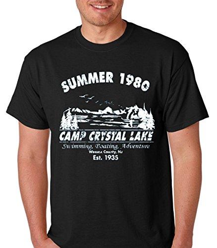 Raw T-Shirt's Summer 1980 Funny Vintage Halloween Horror Premium Men's T-Shirt (X-Large, Black) (Halloween Tshirt)
