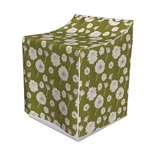 - Lunarable Vintage Floral Washer Cover, Romantic Aster Bouquet Design Floral Composition Dots Backdrop, Waterproof Dustproof Decorative Fabric, 29