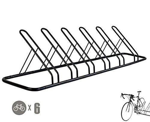 - CyclingDeal 1-6 Bike Floor Parking Rack Storage Stand Bicycle