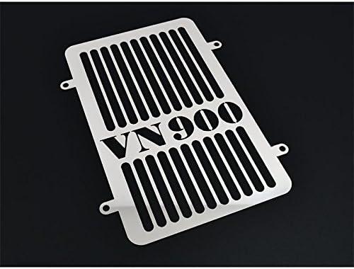 Kawasaki VN 900/Classic//Custom 2006/Onwards Radiator Water Cooler Grille Radiator Grille Guard Cooler Line Logo Silver