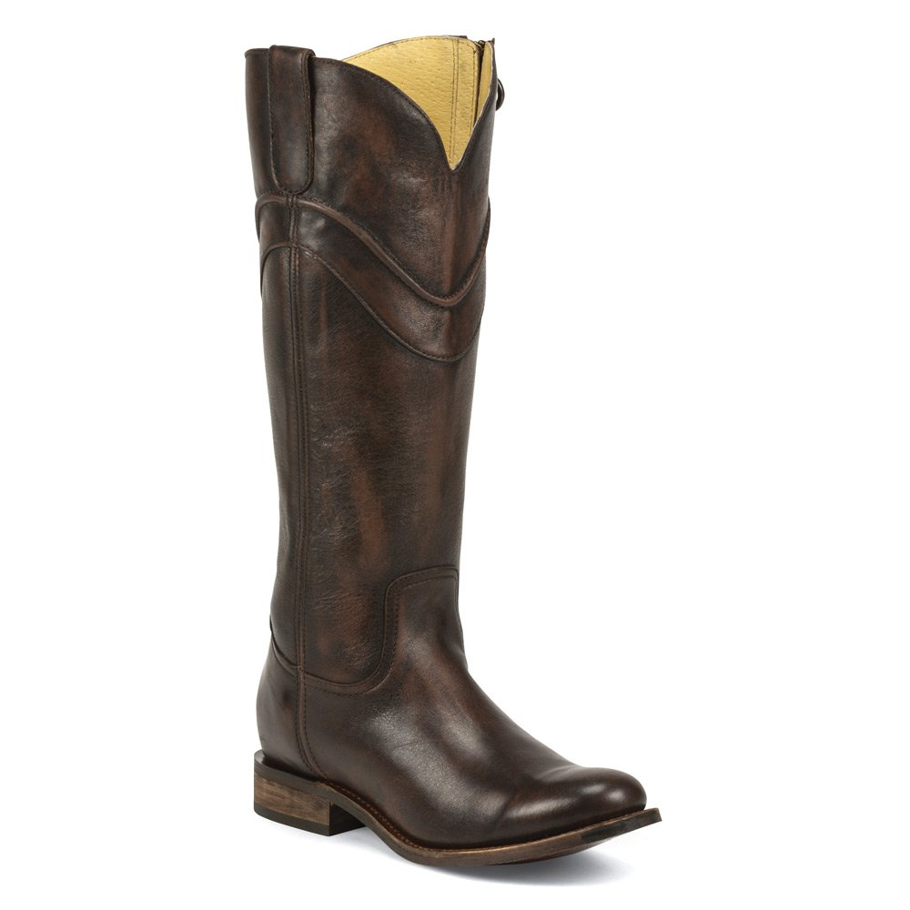 Justin Boots MSL504 Women Round Toe Leather Brown Western Boot B01C41D144 10 B(M) US|Chocolate Barocco