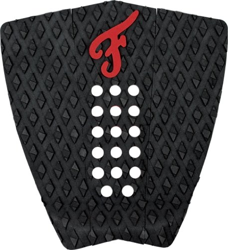 Famous 'Nathaniel Curran' Stranded - Black/Red Traction Pad by Famous Surf