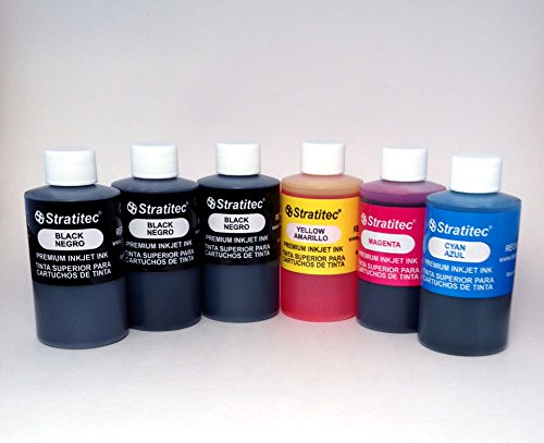 Black and Color Premium Inkjet Ink Refill 510ml (18oz) Made in USA
