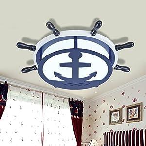 Mittelmeer-Ruder-LED kreative Kinderzimmer Deckenleuchte Schlafzimmer Junge...