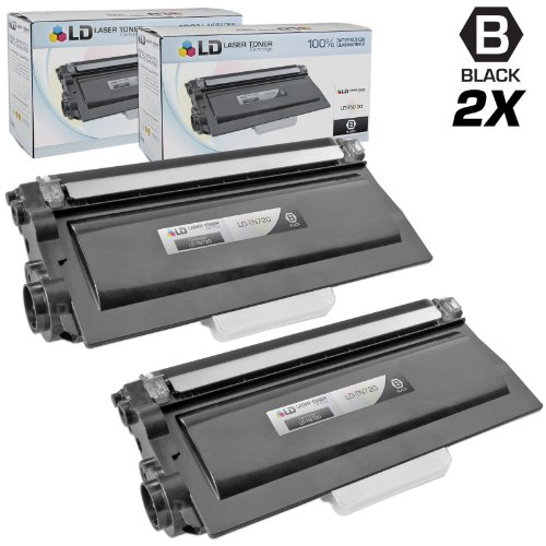 LD©  2 Pack of Toners: Includes 2 Black Laser Toner Cartridge Compatible with Brother TN720, DCP 8110DN, 8150DN, 8155DN, HL 5440D, 5450DN, 5470DW, 5470DWT, 6180DW, 6180DWT, MFC 8510DN, 8710DW, 8810DW, 8910DW, 8950DW & 8950DWT Printers