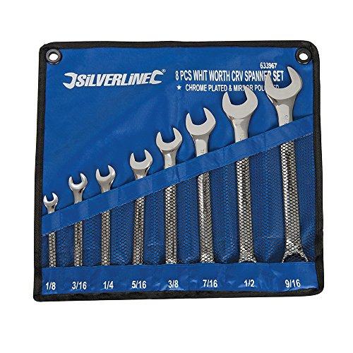 Silverline Whitworth Spanner Set 8pce 1/8 - ()