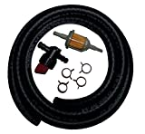 Carburetor Fuel Line Replacement Kit for Kawasaki, Tecumseh, Briggs and Stratton, and Kohler Engines 7 Piece Bundle with Shut-off Valve