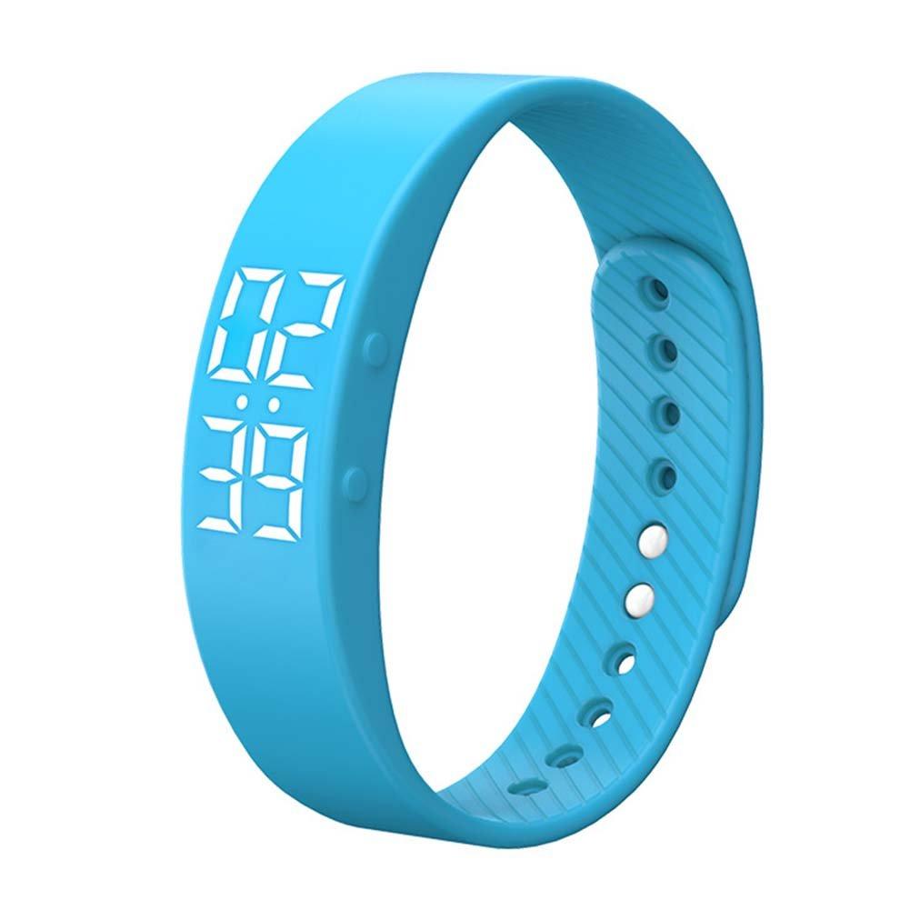 Activity Tracker, Heart Rate Monitor Pedometer Sleep Monitor Smart Bracelet Waterproof Screen Display with Message Reminder for Girls Women Man, Smartwatch (Blue)