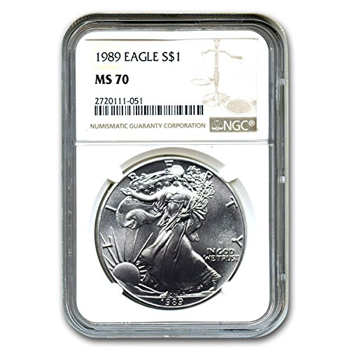 1989 Silver American Eagle MS-70 NGC (Registry Set) MS-70