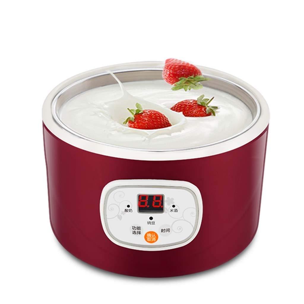 Machine de yaourt /électrique automatique multi-fonction en acier inoxydable Lebei conteneur natto machine /à vin de riz quatre grille tasse de yaourt 1L