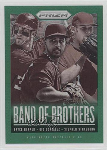 Gio Gonzalez; Bryce Harper; Stephen Strasburg (Baseball Card) 2013 Panini Prizm - Band of Brothers - Retail Green Prizms #BB25