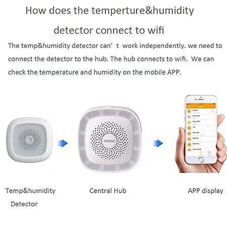 HEIMAN Zigbee Temperatur und Feuchtigkeitsdetektor HS1HT