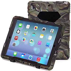 iPad Air Case,Aceguarder® Design [Waterproof][Shockproof][Scratchproof][Drop resistance]*Limited edition*Super Protection Cover Case iPad Air(2015) (iPad Air, camo-black) from ACEGUARDER
