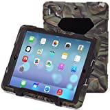 Water Proof IPAD 5 Air Cover Case Military Shock Proof Slim Fit with Back Cover Standing Camo Black