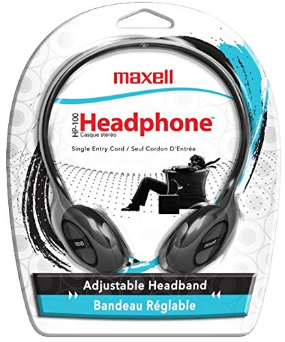 Maxell 190319 Stereo Headphone, Black  (Packaging