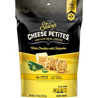 Stacy's Cheese Petites, White Cheddar Jalapeno, 7.5oz Bag (Pack of 2)