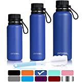 ARTEESOL Water Bottle 17/25/34 oz (500/750/1000 ml) BPA Free Vacuum Insulated 18/8 Stainless Steel Leak-proof Double-Walled Wide Mouth Thermos for Sports Gym Workout, Cold or Hot for 12h [9 Colors]