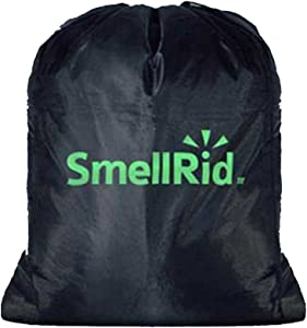 "SMELLRID Reusable Activated Charcoal Odor Proof Bag: Large 24"" x 28"" Bag Keeps Odor Out!"