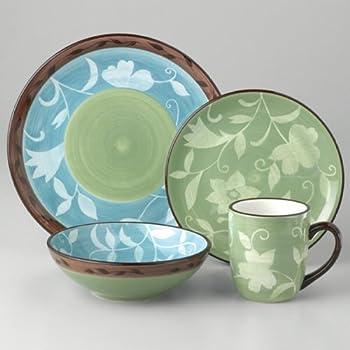 Pfaltzgraff Patio Garden 16-Piece Dinnerware Set Service for 4 & Amazon.com | Pfaltzgraff Patio Garden 16-Piece Dinnerware Set ...