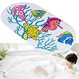 Kangkang@ Kids Cartoon Non Slip Suction PVC Safety Bath Shower Mat Bathroom Toliet Rugs tapis de bain tapete para banheiro (sea horse)