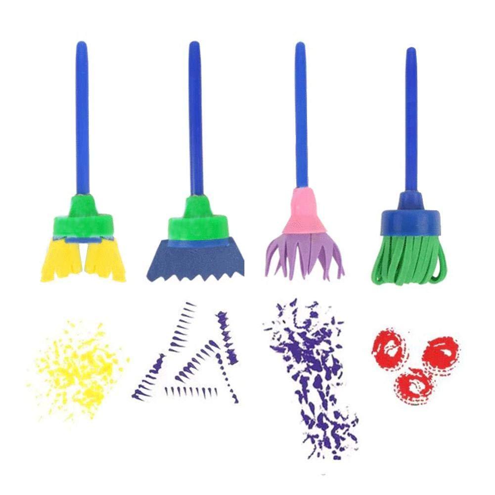 strumenti da disegno per bambini prima educazione per imparare i giocattoli Graffiti 27 St/ücke kit per la preparazione fai da te spugna Arte e artigianato per bambini pennello per pittura