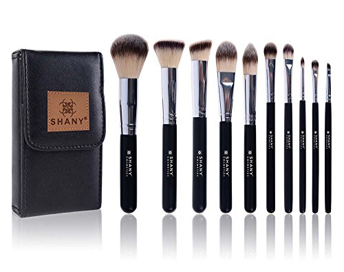 SHANY Ombre Pro 10 Piece Essential Brush Set with Travel Pou