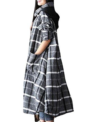 MatchLife - Abrigo - abrigo - para mujer Style2-Blue