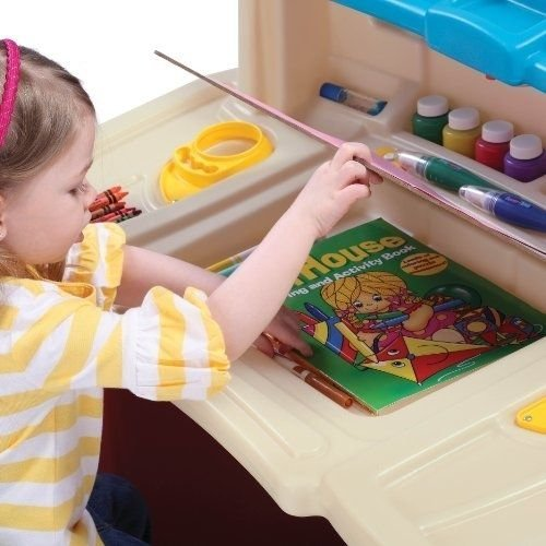 Generic Desk Cha Play Craft Table ble Desk Ch Drawing Toy ay Craft T New Creative y Dra Desk Chair Kids Set e Art Fun Ac Art Fun Activity by Generic