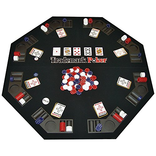 Deluxe Texas Traveler Poker Table Top Combo Set - Includes Chips, Case, Cards, and Poker Buttons! by TMG