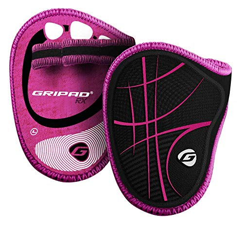 Gripad RX Lifting Grips (Black/Pink) | The Most Durable Grip Pads Yet | The Alternative to Weight Lifting Gloves, Gym Workouts, WOD, Weightlifting | Neoprene Padded Grips | Flexible Rubber -