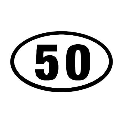 Cafepress 50 mile ultrarunning sticker oval bumper sticker euro oval car decal