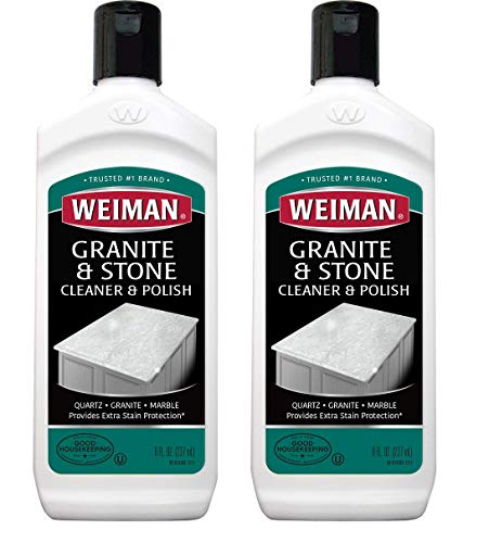 Weiman Granite Cleaner and Polish 8 Ounce 2 Pack - Granite Composite Countertop