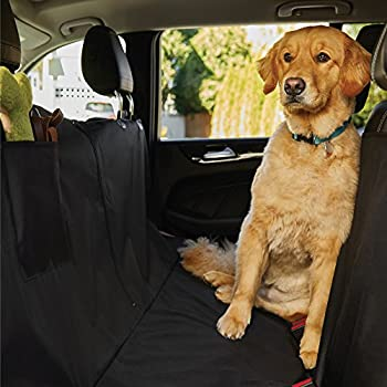 The Original GORILLA GRIP (TM) Slip-Resistant Pet Car Seat Protector for Pets, Waterproof, Underside Grip, Great for Dogs or Cats, Features Seat Belt Openings, Seat Anchors and Pocket (Hammock: Black)