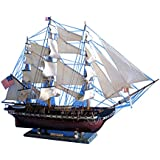 "USS Constitution 38"" - Wooden Tall Ship Model - Tall Model Ship - Naval Warship"