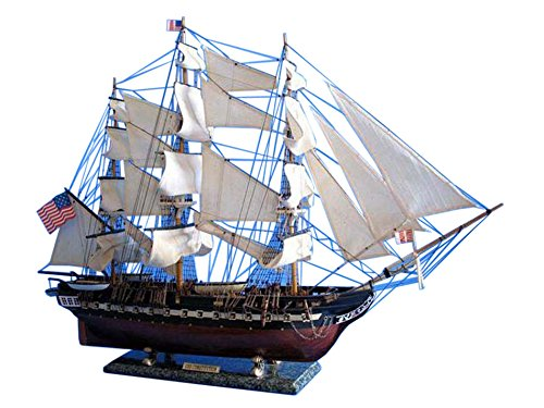 Constitution Wood Tall Ship Model - 7