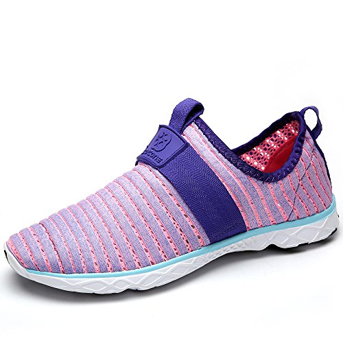 Water Sport Shoes Aleader Women's Tennis Walking Shoes Purple 8 D(M) US
