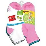 Hanes ComfortBlend EZ-Sort Girls' Ankle Socks 11-Pack_White_S