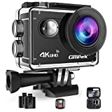 #3: Waterproof Camera Campark 4K WIFI Action Cam 2 Inch LCD Screen Underwater Camcorder with 170 Degree Wide Angle,Remote Control 2 Pcs Rechargeable Batteries and Portable Package