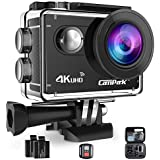 Campark Waterproof Camera 4K WIFI Action Cam 2 Inch LCD Screen Underwater Camcorder with 170 Degree Wide Angle,Remote Control 2 Pcs Rechargeable Batteries and Portable Package