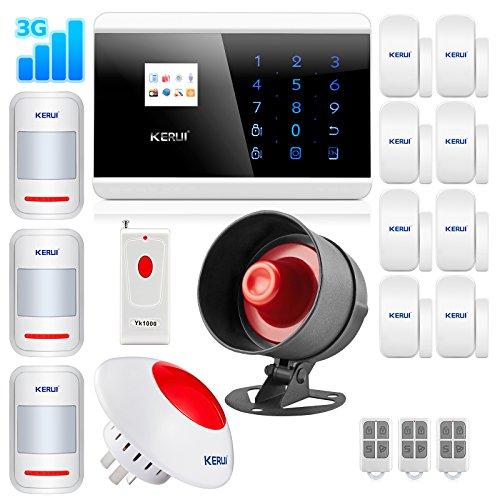 KERUI 8219G Wireless 3G Home Security Burglar Smart Alarm Sy