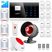 KERUI 8219G Wireless 3G Home Security Burglar Smart Alarm System DIY Kit,PSTN GSM Touch Keypad Auto Dial+Wireless siren 110dB