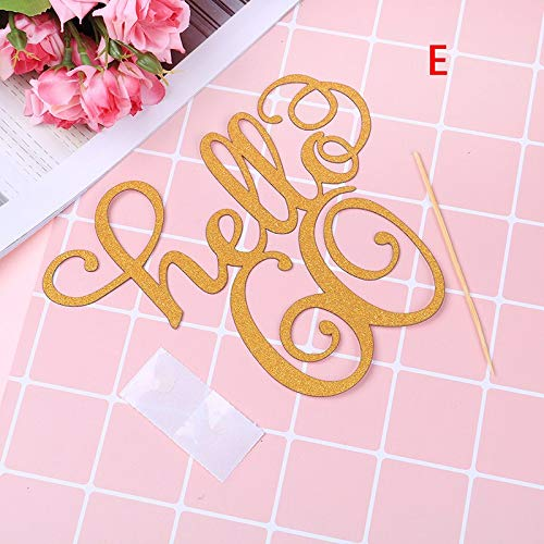 - Cake Decorating Supplies - 1pcs Set 30 21 40 50 60 Gold Glitter Hello Party Cake Decoration Per Thirty Birthday - Pieces Year Cake Figurines 1s/set Molds Beginners Kids Bags Paper Happy