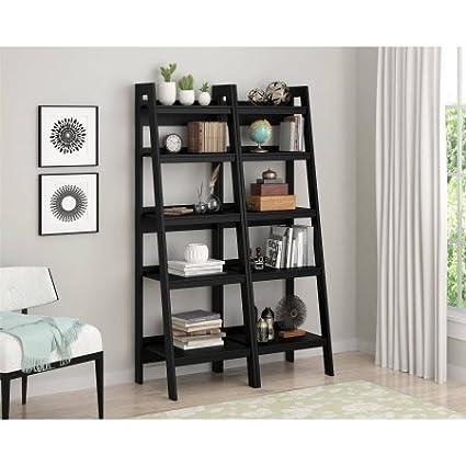 Altra Metal Ladder Bookcase Set Of 2 Black 9482096