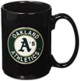 Great American Products MLB Two Piece Black Ceramic Coffee Mug Set