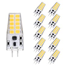 YUSHILED G4 2 PIN LED Bulb AC/DC12V Bin-Pin Lamp Warm White 3W 300Lumen 20LEDS 2835 Replacement 30W Halogen Lamp 10Pack