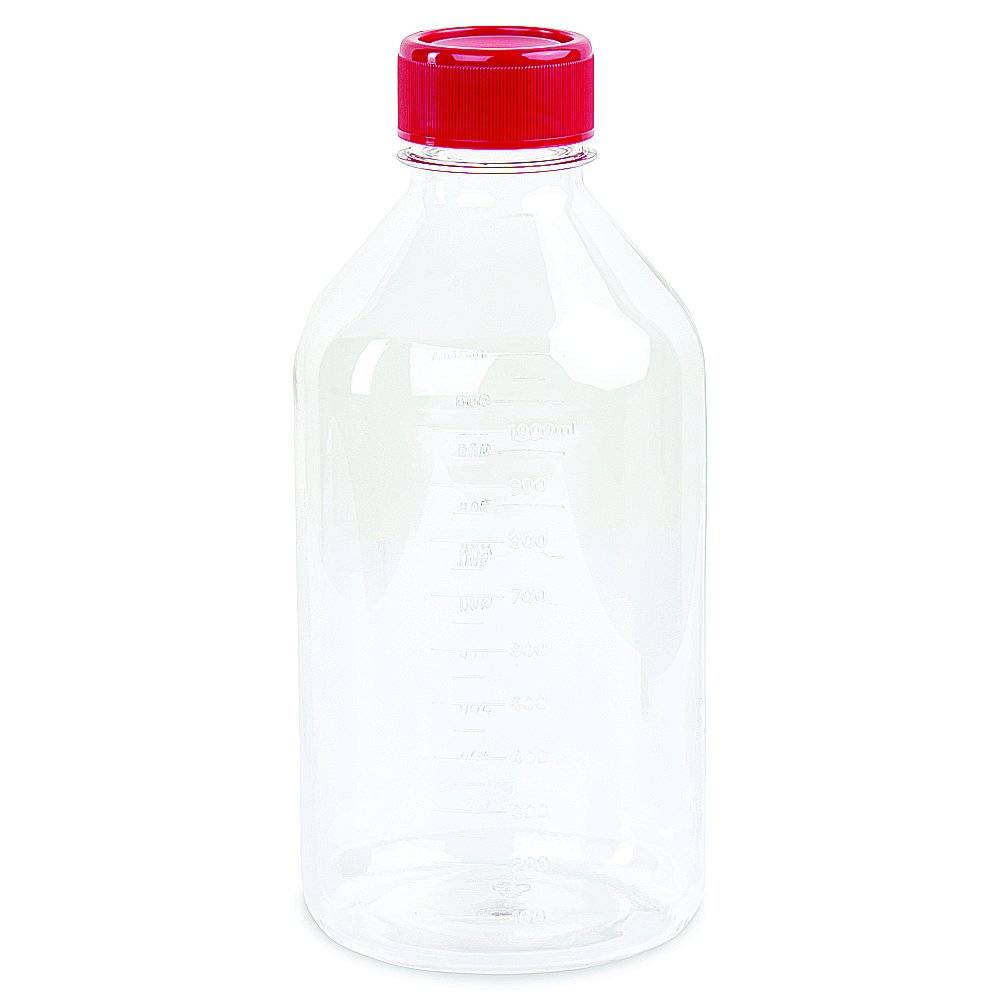 Corning Costar #8396, 1L Traditional Style Polystyrene Storage Bottles with 45mm Caps (Single)