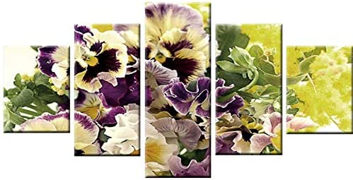 Flowers Purple Yellow Art Print Framed Poster Wall Decor