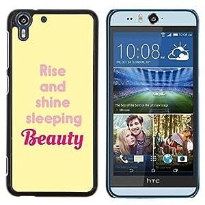 - beauty rise and shine yellow quote - - Modelo de la piel protectora de la cubierta del caso FOR HTC Desire EYE M910x RetroCandy