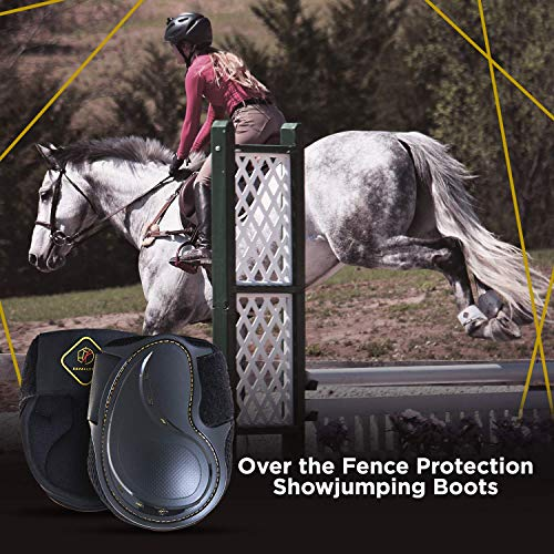 Kavallerie Classic Fetlock Boots, Impact-Absorbing and Air-Perforated Material, Durable & Evenly Distributes Pressure, Fetlock Injury Protection, Non- Slip with Soft Lining Show Jumping Boots by Kavallerie (Image #2)