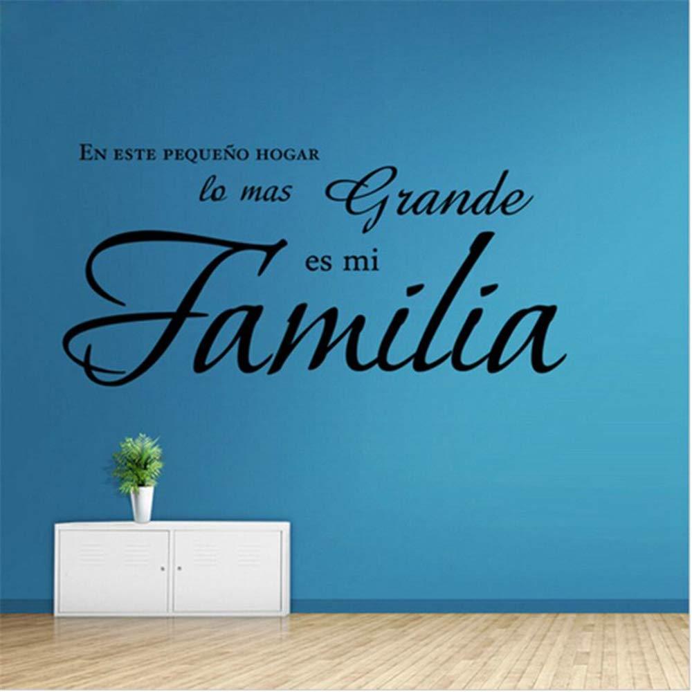 Español En este hogar lo más grande es mi familia calcomanía de la ...